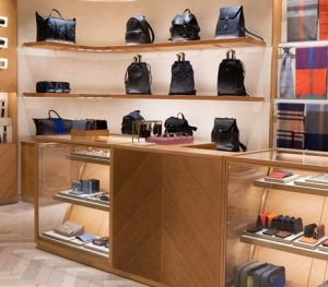 Mulberry shop counter